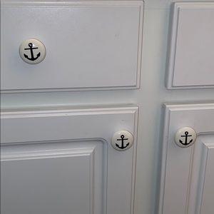 5 anchor coastal nautical cabinet knobs.